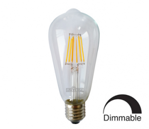 Λάμπα ST64 LED Filament Universe 6W Dimmable