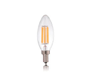 LED Κερί C35 Filament 4W Dimmable