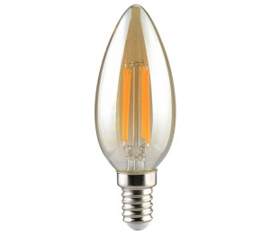 LED ΚΕΡΙ C35 FILAMENT 4W GOLDEN DIMMABLE